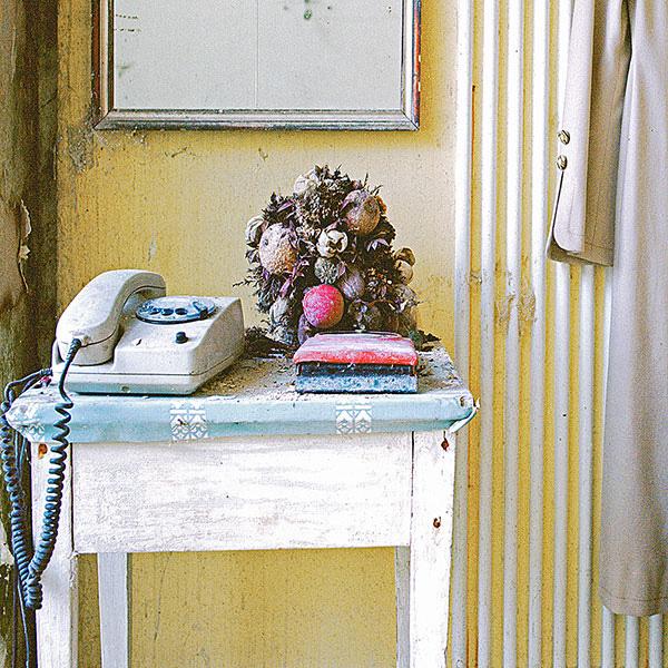 Tisch, Telefon und Blumen © 2014 Jeanne Fredac