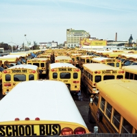 Bus school, NYC, 2008, Jeanne Fredac © Adagp, Paris, 2021