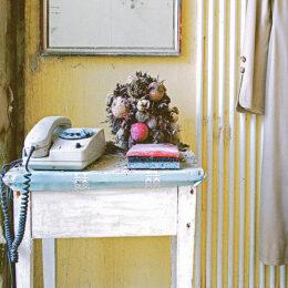 Tisch, Telefon und Blumen, 2014, Jeanne Fredac © Adagp, Paris, 2021